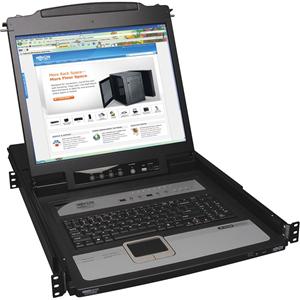 "Tripp Lite 8-Port Rack Console KVM Switch built in IP w/ 19"" LCD 1U"