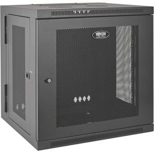Tripp Lite 10U Wall Mount Rack Enclosure Server Cabinet Hinged w/ Door & Sides
