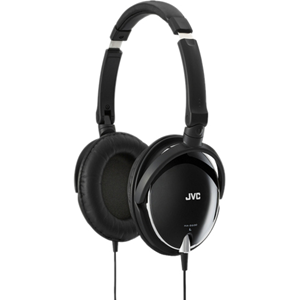 """Black lightweight around the ear headphones with excellent portability and dynamic sound, deep bass with high-clarity sound reproduction with carbon diaphragm and bass-boost port, high-quality sound reproduction with 1.57"""" (40mm) Neodymium driver unit, fo"""