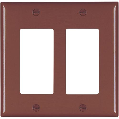 Pass & Seymour Trademaster 2-Gang Decorator Wall Plate, Brown (M20)