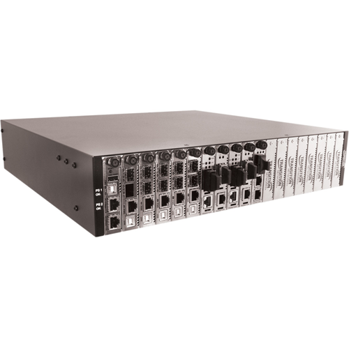 Transition Networks 19-Slot Chassis for the ION Platform, AC Powered