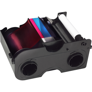 DTC4500 YMCKO: FULL-COLOR RIBBON W/
