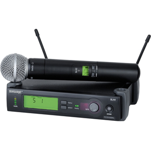 Shure SLX24/SM58 Handheld Wireless Microphone System G4 470-494 MHZ