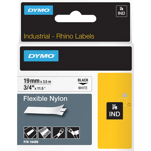 "Label, Flexible Nylon, 3/4""x11.5', White"