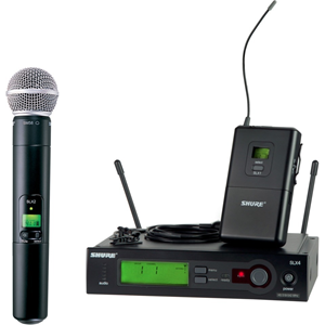 Shure SLX124/85/SM58 Handheld/Lavalier Wireless Microphone System CH G4