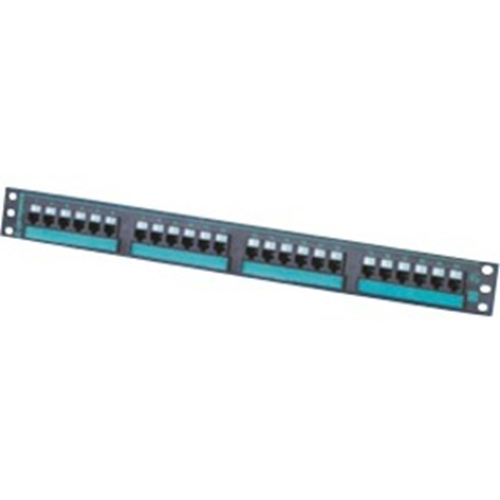 """Ortronics Clarity 6 24-port Category 6 Patch Panel, six-port Modules, 19"""" x 1.75"""""""