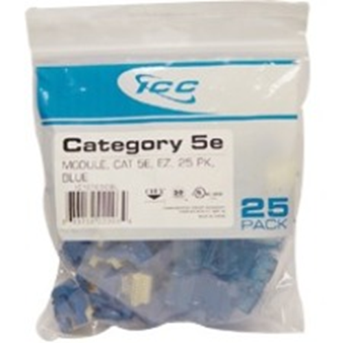 MODULE CAT5E EZ 25PK BLUE