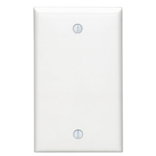 Leviton 80714-00W Single Gang Blank Faceplate