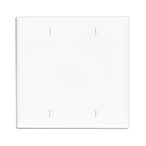 Leviton 80725-00W Double Gang Blank Faceplate