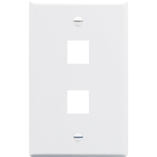 2 PORT SGL GANG WALLPLATE WH