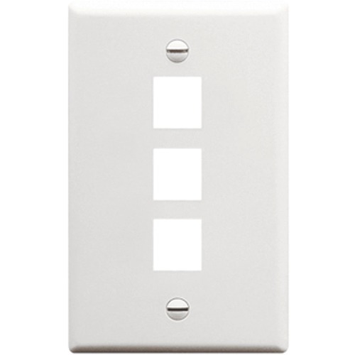 3 PORT SGL GANG WALLPLATE WH