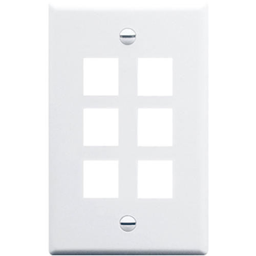 ICC IC107F06WH Single Gang Faceplate