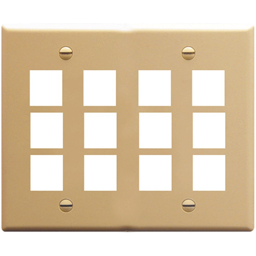 ICC IC107F12IV Double Gang Faceplate