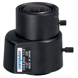 Computar TG3Z2910FCS-31IR - 2.90 mm to 8.20 mm - f/1 - Zoom Lens for CS Mount