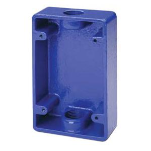 BACK BOX F/491 BRTBRS STN BLUE
