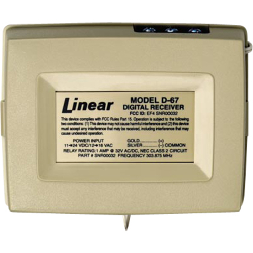 Linear PRO Access D-67 Security Wireless Receiver