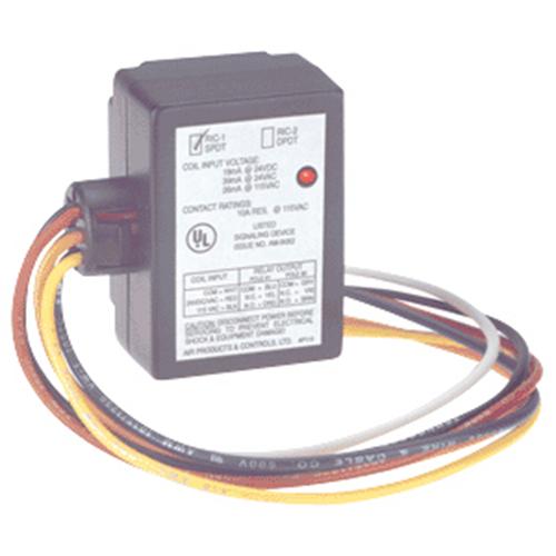RELAY SPUD 24VAC/DC 120VAC 10AMP SPDT RED LED UL