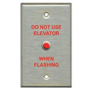 Light Engineered EL1 Elevator Warning Faceplate