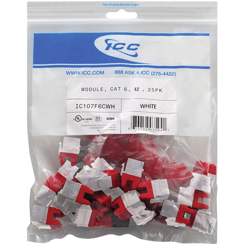 MODULE CAT6 EZ 25PK WHITE