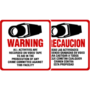 Maxwell DTV-204 Caution Sign