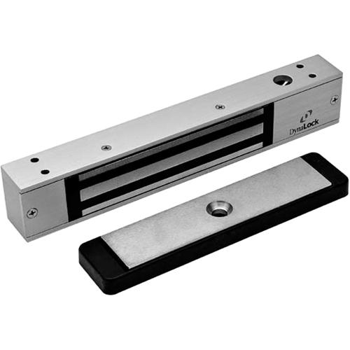 2500 Series 650 LB Mini-Mag Single Electromagnetic Lock for Outswing Door with Door Status Switch, Dynastat Force Sensor, Satin Aluminum