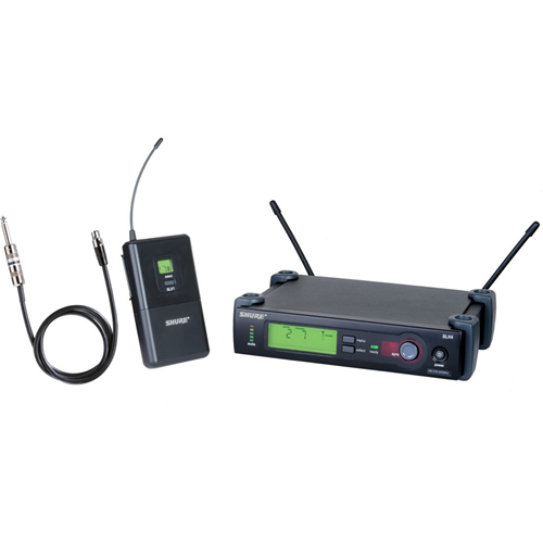 Shure SLX14 Wireless System with WA302 Instrument Cable