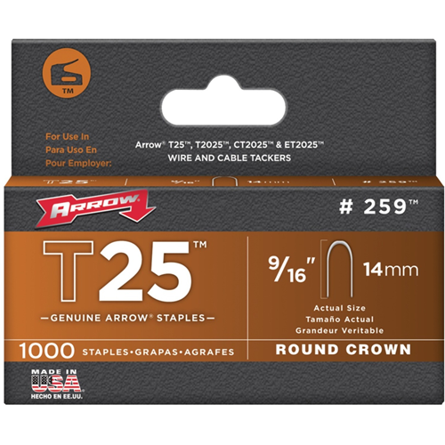 Arrow Round Crown Staples