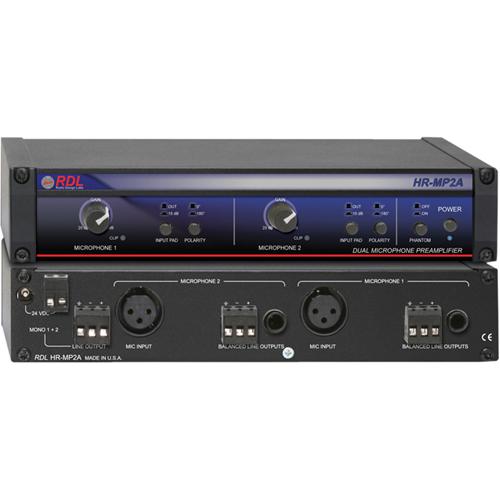 RDL HALF-RACK HR-MP2A Amplifier
