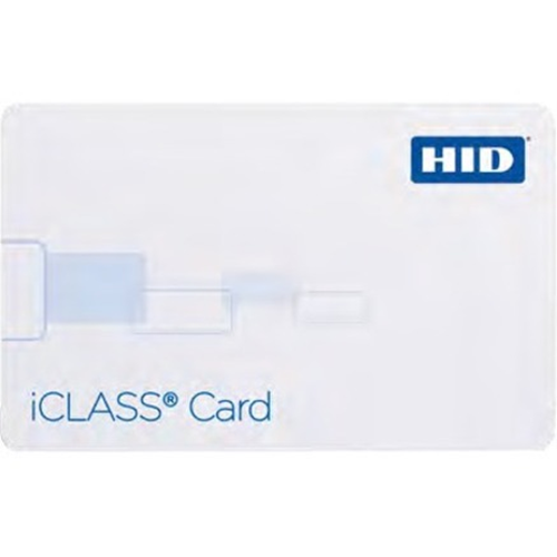 HID ICLASS SMART CARD - 2K / 2 APPLICATION AREAS, MAG STRIPE AND HORIZONTAL SLOT