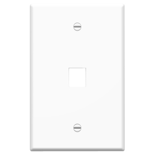 Legrand-On-Q Single Gang Oversized Wall Plate, 1-Port, White