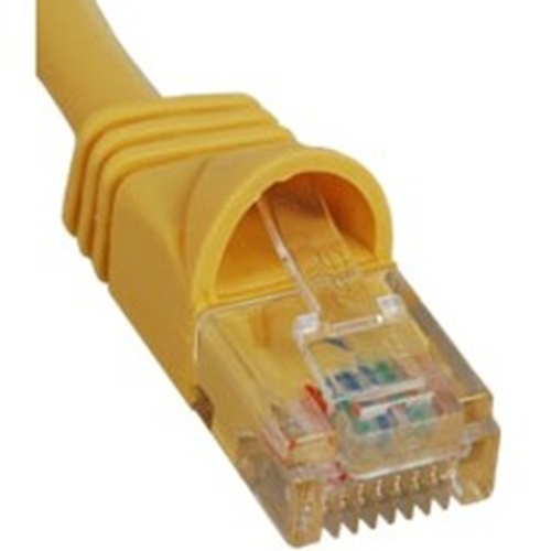 ICC Patch Cord, Cat 5e, Molded Boot, Yellow