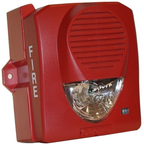 WALL MOUNT WTHR PRF SELECT-A-STROBE/HORN-RED BODY