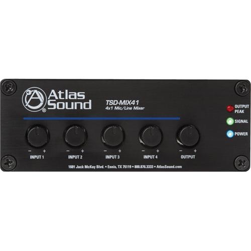 Atlas Sound TSD-MIX41 4 x 1 Mic/Line Mixer