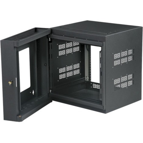 "Atlas Sound 10RU High Strength Wall Cabinet with Adjustable Rails, 23.5"" Deep"