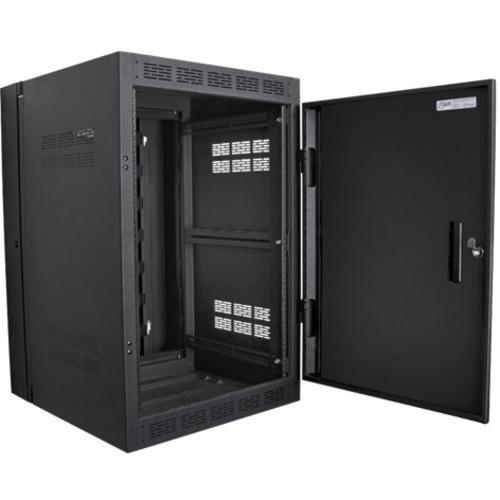 "Atlas Sound 24RU High Strength Wall Cabinet with Adjustable Rails, 23.5"" Deep"