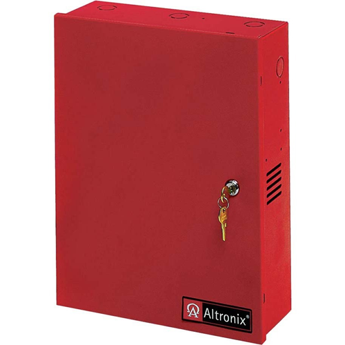 Altronix 8 Fused Outputs Power Supply/Charger. 24VDC @ 8 or 10A. Red Encl. & Xfmr.