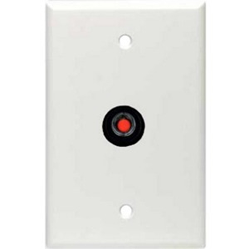 Alpha RP-44WH Wall Locking Push Button Station - 1 Gang - White Plastic