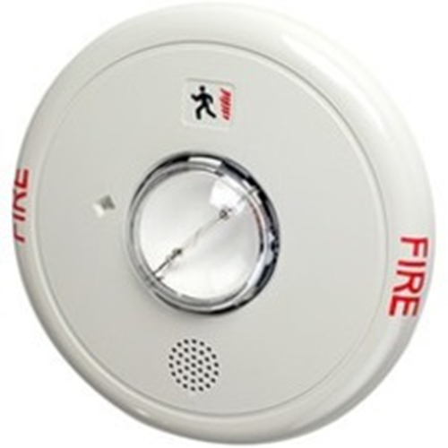 HORN STROBE 95-177 CANDELLA W/FIRE MARKING WHITE