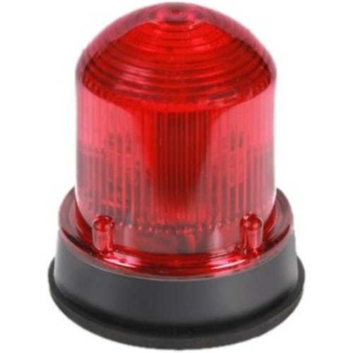 Edwards Signaling 125 Class Flashing Halogen Beacon, Gray Base Red 24V AC 50/60 Hz, 0.770A