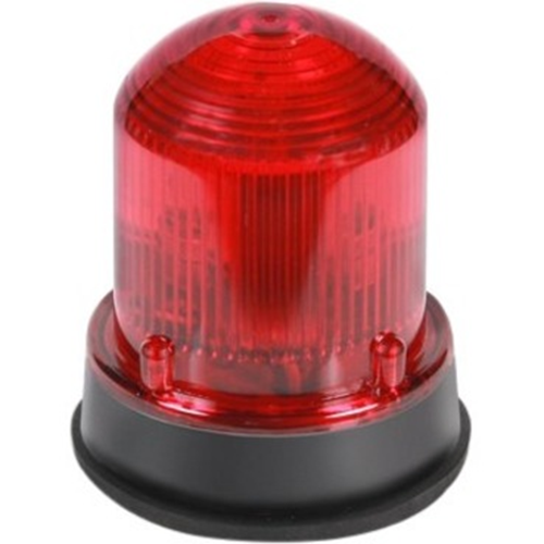 Edwards 125 Class Flashing Halogen Beacon, Black Base Red
