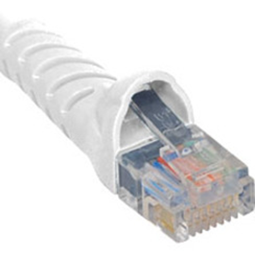 ICC Patch Cord, Cat 5e, Molded Boot, White