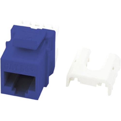 Legrand-On-Q Quick Connect Cat 5e RJ45 Keystone Insert, Blue (M10)