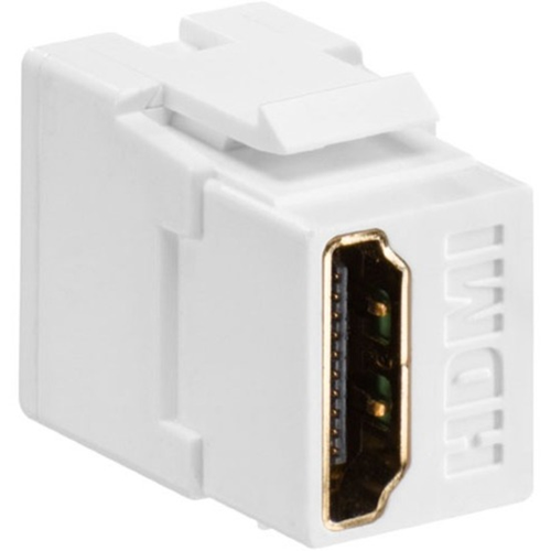 Leviton HDMI Feedthrough QuickPort Connector, Light Almond