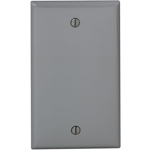 Leviton 80714-0GY Blank Faceplate