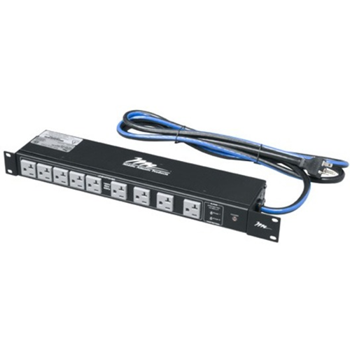 18 OUTLET,20 AMP,RACKMOUNT STRIP 2 STAGE SURGE