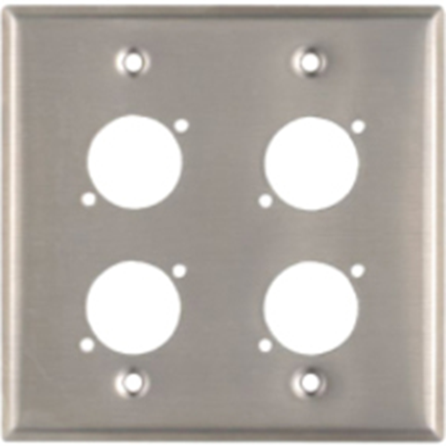 DOUBLE GANG 4 PORT PLATE