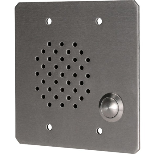 Quam 2-Gang Call-In Station, Vandal Resistant, Stainless Steel