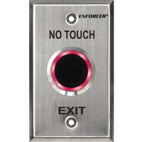 """Enforcer """"No Touch"""" RTE Plate with Adjustable Delay Timer, for Outdoor Use - Single Gang - Single Gang - Stainless Steel - For Hospital, Clinic, Laboratory, Clean Room, School, Factory, Office"""