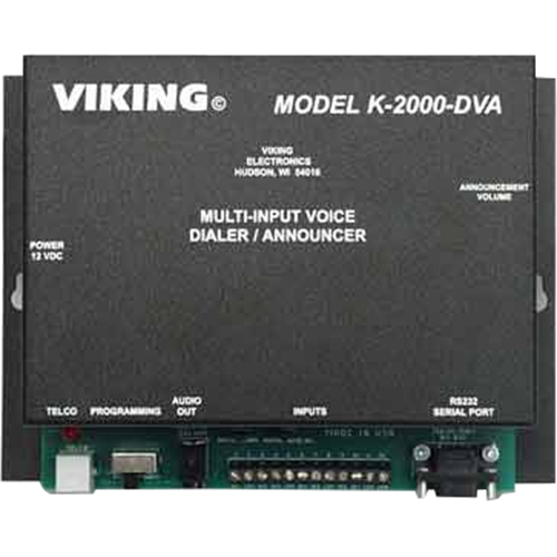 Viking Electronics Voice Alarm Dialing or Store Caster Announcements from up to Eight Inputs