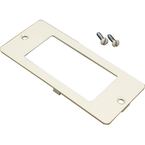 RECT FACEPLATE IVORY